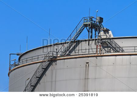 Oil Reservoir On A Petrochemical Plant