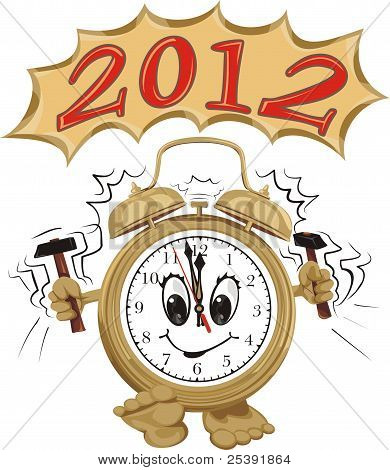 alarm ring and new year  2012
