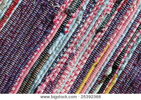 Rag Rug Carpet Close Up