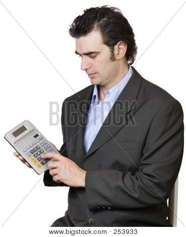 Businessman Calculating