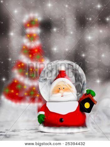 Snow Globe Santa Claus, Christmas Tree Decoration
