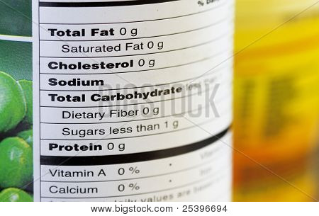 Fat-free Food Labeling, Macro