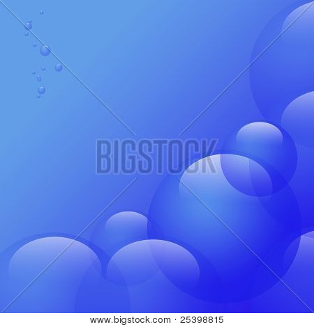 Blue Background With Bubbles