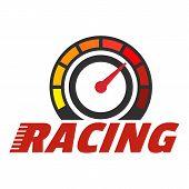 Racing Dashboard Logo. Flat Illustration Of Racing Dashboard Logo For Web Design poster