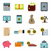 Flat Credit Icons Set. Universal Credit Icons To Use For Web And Mobile Ui, Set Of Basic Credit Elem poster