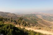 stock photo of tora  - Hermon Mountain And Golan Heights View - JPG