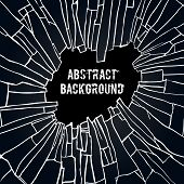 Abstract Background With The Effect Of Broken Glass. Black Broken Glass Background Illustration poster