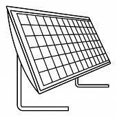 Battery Solar Panel Icon. Outline Illustration Of Battery Solar Panel Icon For Web Design Isolated O poster