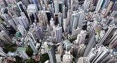 Top View Of Hong Kong, Hongkong City, China poster