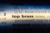 Top Brass Word In A Dictionary. Top Brass Concept. poster
