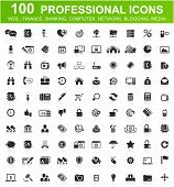 stock photo of universal sign  - One hundred computer icons collection - JPG