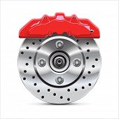 foto of calipers  - Brake  disc with caliper - JPG