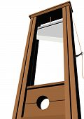 foto of guillotine  - Guillotine with a raised knife - JPG