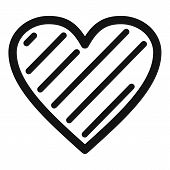 Simple Heart Icon. Simple Illustration Of Simple Heart  Icon For Web. poster