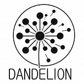 Faded Dandelion Logo Icon. Simple Illustration Of Faded Dandelion  Icon For Web. poster