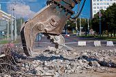 foto of crusher  - Commercial and Industrial Demolition with Concrete Crusher - JPG