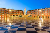 The Fountain du Soleil on Place Massena square Nice, French Riviera, Cote dAzur, France poster