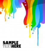 drips of colorful paint vector background