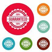 Guaranteed Logo. Simple Illustration Of Guaranteed Logo For Web poster