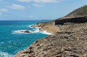 Rocky Coastline And Atlantic Ocean Of Punta Marillos Arecibo Puerto Rico poster