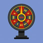 Roulette Wheel Icon. Flat Illustration Of Roulette Wheel Icon For Web poster