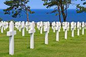 image of ww2  - American War Cemetery near Omaha Beach Normandy  - JPG