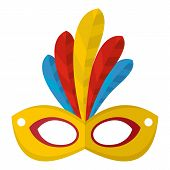 Brazilian Carnival Icon. Flat Illustration Of Brazilian Carnival Icon For Web poster