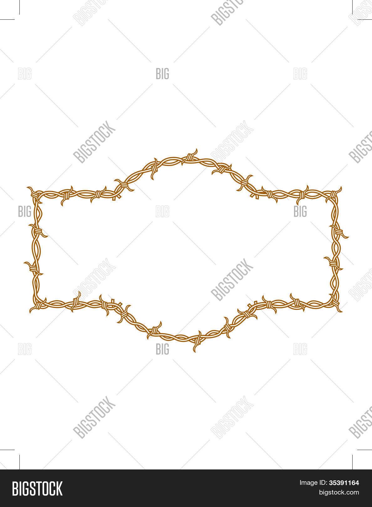 Barbed wire border clip art vector photo bigstock