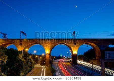 stockport viaduct tail lights