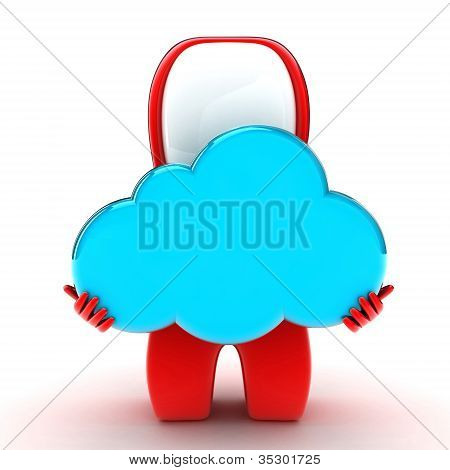 Person With A Cloud