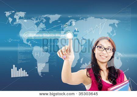 El botón de futuro