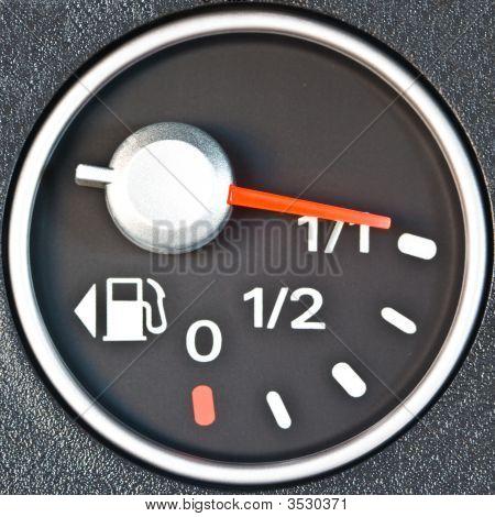 Close Up Of Car Fuel Meter
