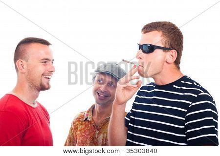 Happy Guys Smoking Hashish