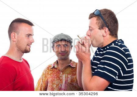 Friends Smoking Hashish