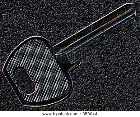 Embossed Key