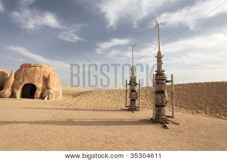 Missiles in the desert