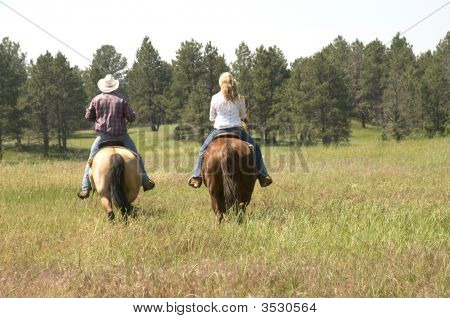 Riding On Ranch