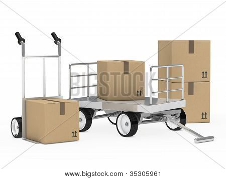 Package Trolley And Hand Truck
