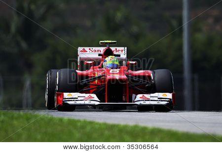 Felipe Massa with F1 car