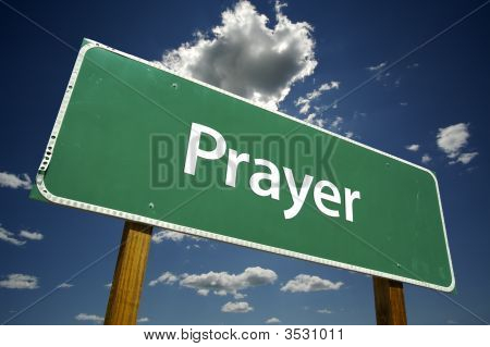 Prayer Road Sign
