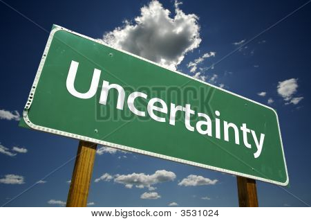 Uncertainty Road Sign