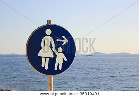 Mother And Child - Traffic Sign
