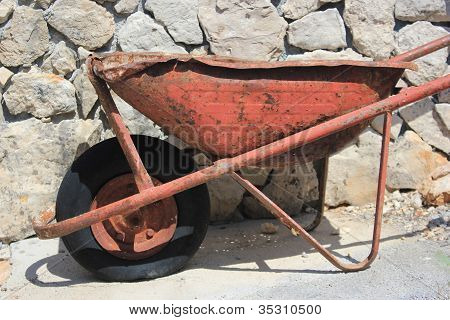 Thoroughly Used Up Wheelbarrow