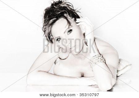 Black and White Sexy Portrait