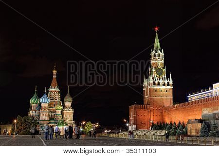 Red Square is the most famous square in Moscow