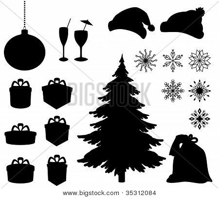 Christmas holiday objects