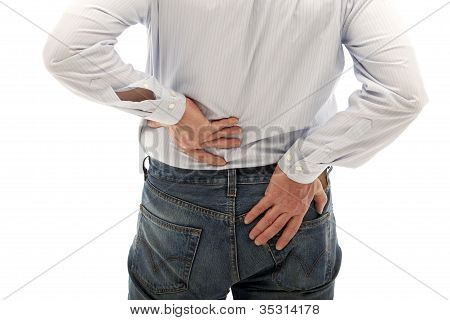 Man Suffers From Back Pain