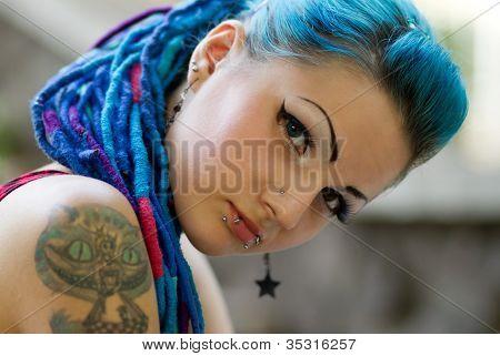 Portrait Of Pierced Teen Girl