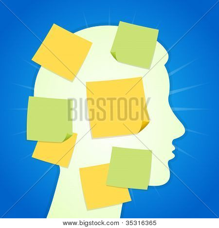 Paper Sticker on Blue Background