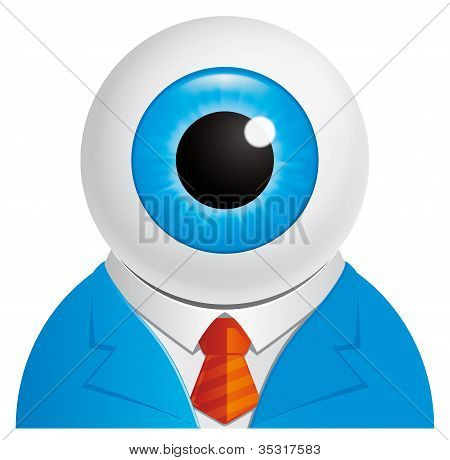 Eyeball Businessman